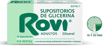 Imagen ampliada del producto SUPOSITORIOS DE GLICERINA ROVI ADULTOS 12 SUPOSITORIOS