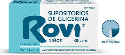 Imagen ampliada del producto SUPOSITORIOS DE GLICERINA ROVI NIÑOS 15 SUPOSITORIOS
